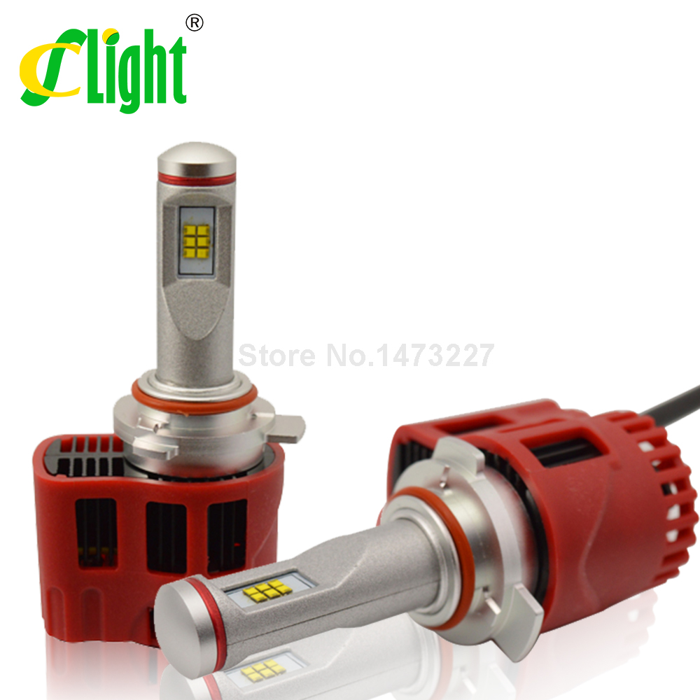 Фотография HIR2 9012 3000K 5000K 6000K Canbus ZES 9000lm Car LED Bulb Headlight Fog Light Conversion Kit