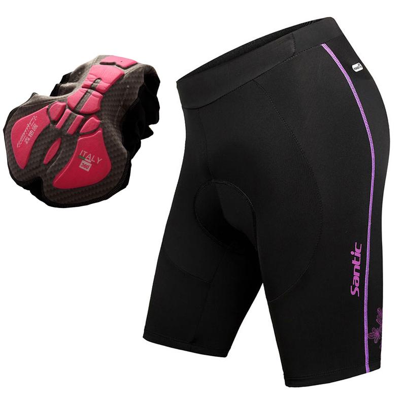 Santic Cycling Clothing for Women's Bicycle Cycling Short Capris 3D Padded Bike Shorts S-XL(China (Mainland))