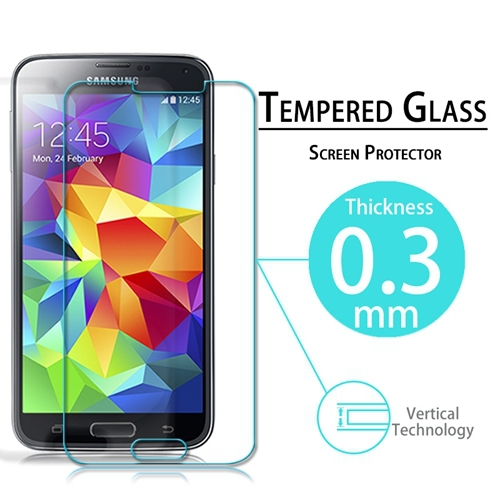Premium Tempered Glass Film Screen Protector For Samsung Galaxy S5 i9600 G900F Anti Shatter With Retail Package 2015 New(China (Mainland))
