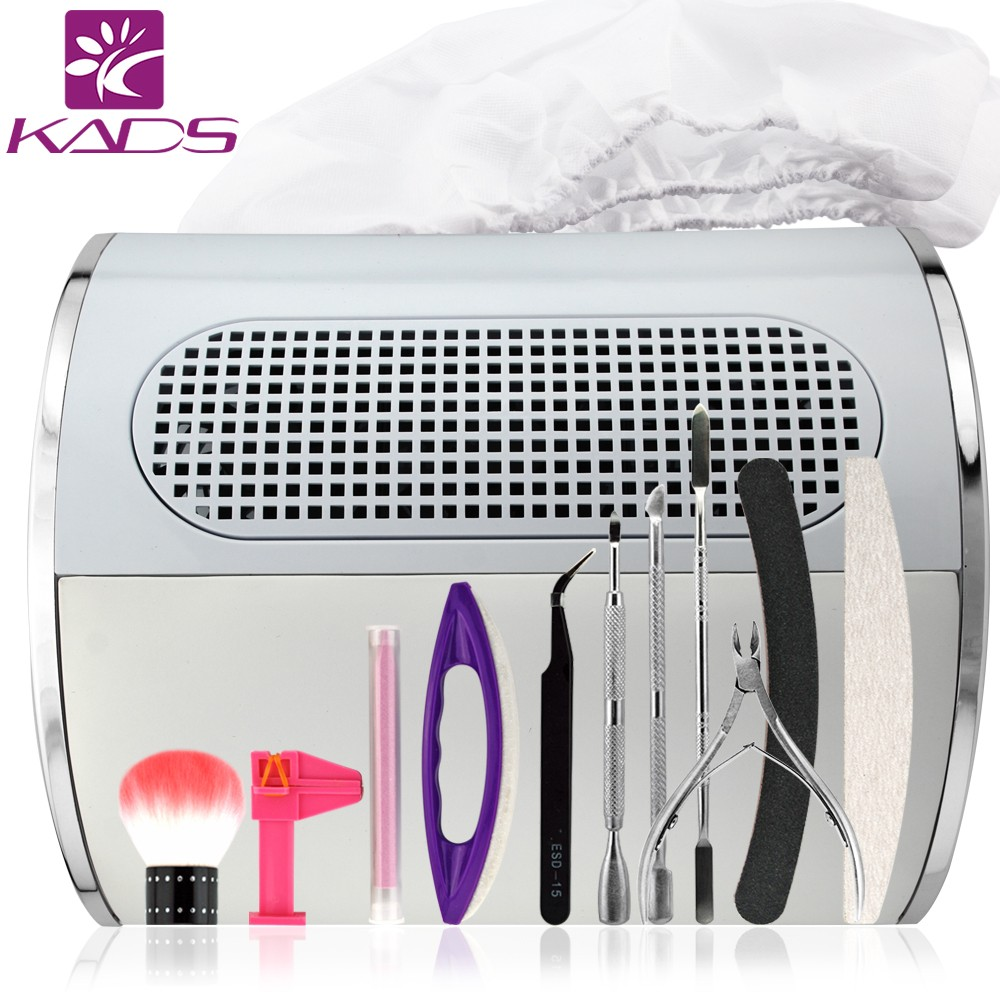 KADS New Arrival Dust Collector Machine Nail Art Tools Set Professional Manicure Kit Nail File Buffer Cuticle Pusher & scissors(China (Mainland))