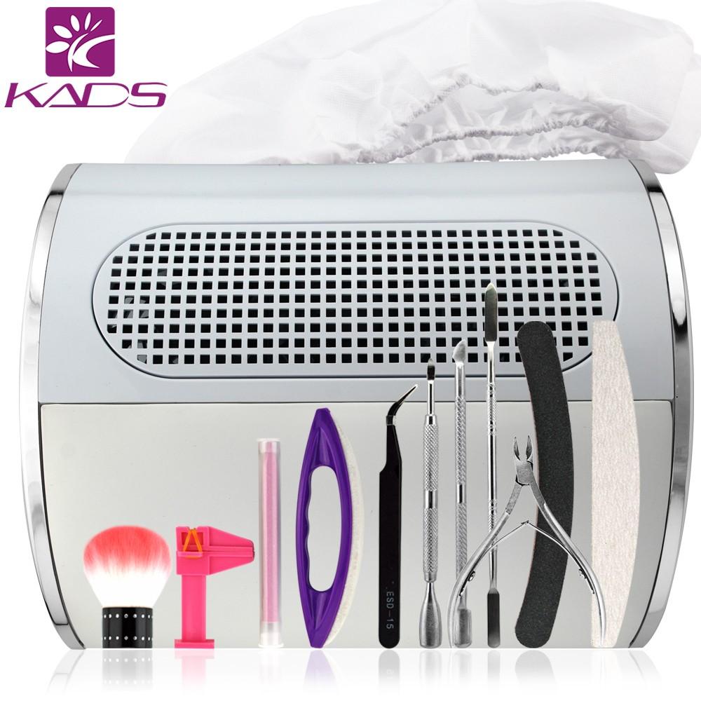 KADS New Arrival Dust Collector Machine Nail Art Tools Set Professional Manicure Kit Nail File Buffer Cuticle Pusher & scissors(China (Mainland))