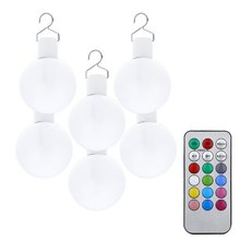 6pcs 0.1W 1.5V Multi-functional LED Remote Control Ball Light Christmas Ornament Bulb with 12 colors to choose(China (Mainland))
