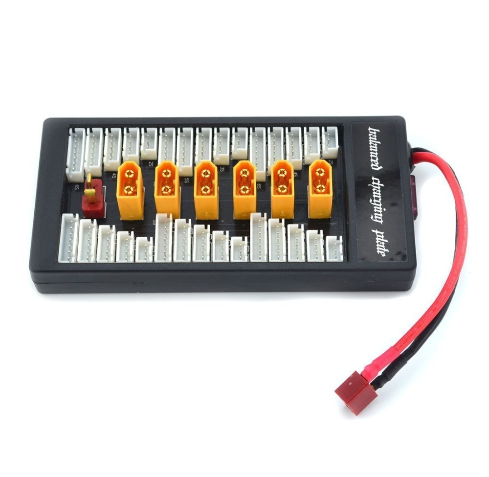 XT60 Lipo Parallel Charging Board parallel 6 batteries Charger Plate for Imax B6 B6AC B8 6 in1 RC FPV Quadcopter(China (Mainland))