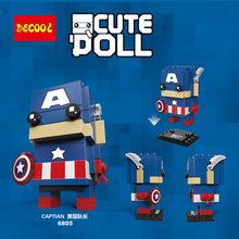 Decool Compatíveis legoed brickheadz vingador 3 Infinito Guerra Marvel super hero Guardiões tijolo cabeças headz conjuntos de blocos de construção(China)