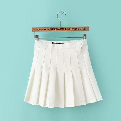 Girl Women Trends Slim Thin High Waist Pleated Tennis Skirts Mini Dress 1pcs(China (Mainland))