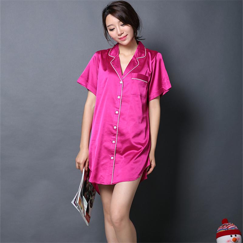 online kaufen gro handel kurz satin nachthemden aus china. Black Bedroom Furniture Sets. Home Design Ideas