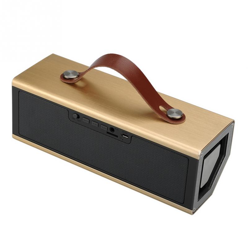 Aluminum Portable Bluetooth Speaker With Gold Silver Family Travel Portable Wireless Bluetooth Speakers With Battery(China (Mainland))