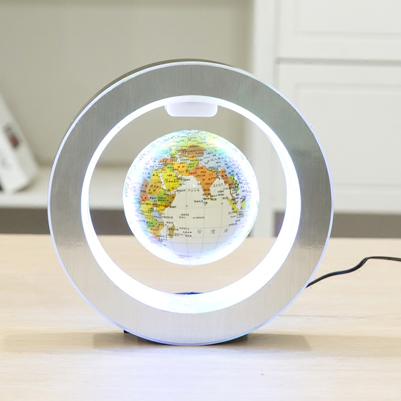 Levitation Floating Globe Rotating Magnetic Mysteriously Suspended In Air World Map Home Decoration Crafts Fashion Holiday Gifts(China (Mainland))