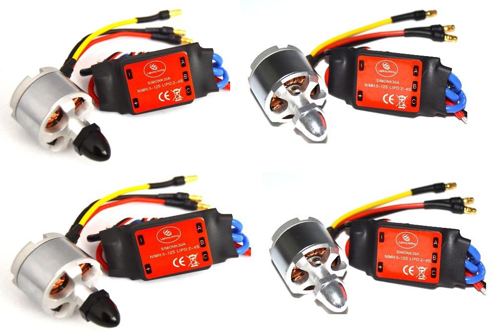 4x 2212 920KV Brushless Motor (CW / CCW) + 4x SIMONK 30A ESC For DJI Phantom(China (Mainland))