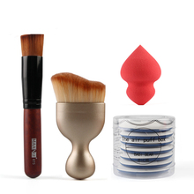 NEW 4 in 1 Does of Colors Cosmetic Makeup Brushes SetFoundation Brush BB Cream Cushion Air Makeup Flutter for Beauty Makeup(China (Mainland))