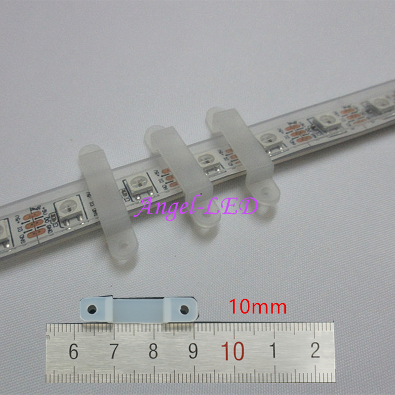 200x Silicon Clip for Fixing 10mm 5050 5630 1903 ws2811 ws2812b Dream Color LED Strip<br><br>Aliexpress