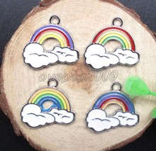 New 50Pcs Mixed rainbow Jewelry Making Accessories Metal Charm pendants S46(China (Mainland))