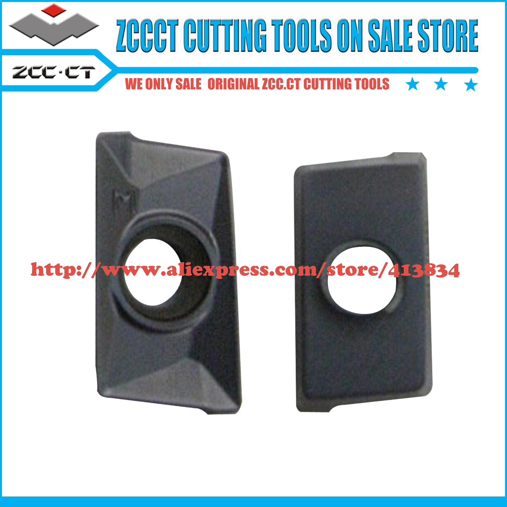 Free shipping APKT160408 PM 40pcs Lot YBG202 CVD ZCCCT cemented Carbide CNC milling insert Positive insert