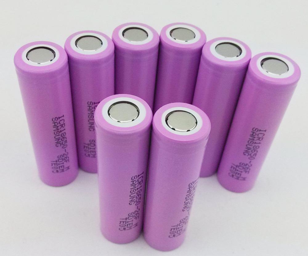 8unids S amsung nuevo 100% Original 18650 ICR18650-26F M 2600 mAh Li ion 3.7 V For Lptop + compras libres(China (Mainland))