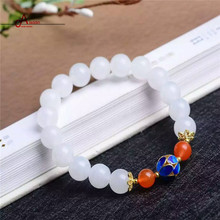 2016 New Brand Class Vintage Jewelry Bracelet Nature Jade with 925 Silver Ccloisonne and Agate bead for mother and women gift(China (Mainland))
