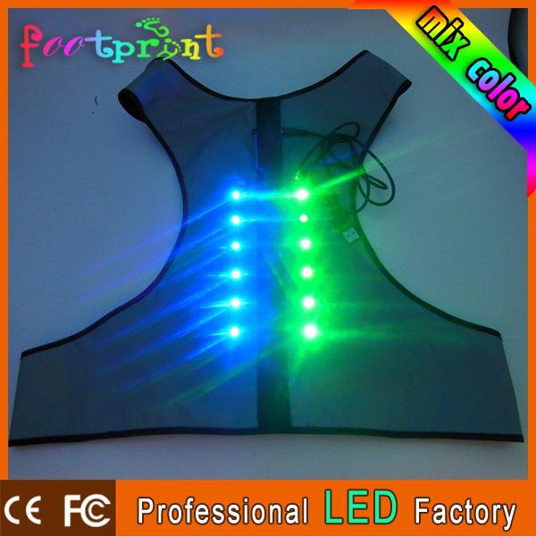 5pcs/lot Keep dog safe pet supplies led light up in dark ecofriendly luminous dog cloth dog vest(China (Mainland))