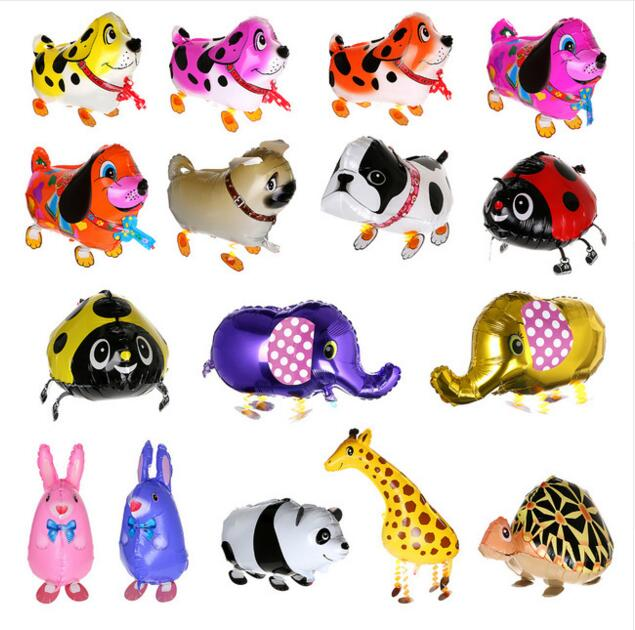 50 pcs/lot Animals walking pet balloons children's toys Hybrid models of animal balloons foil balloon Baby birthday toys globos(China (Mainland))
