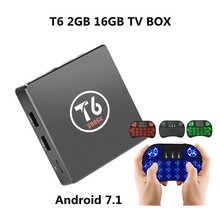 Buy T6 Box TV S905X Android 7.1 Smart TV Box 2GB RAM 16GB ROM Amlogic S905X Quad Core Cortex A53 4K 2.4GHz WiFi Smart Set-Top Box for $34.99 in AliExpress store