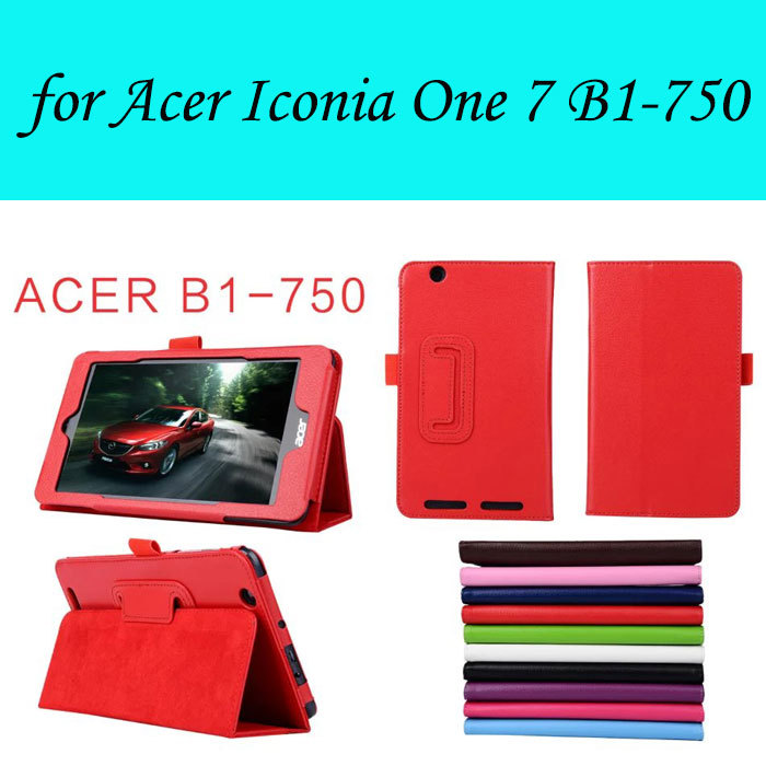 High Quality Slim Voltage PU Cover For Acer Iconia One 7 B1-750 Luxury Tablet Cases,Original Tablet Case Cover For Acer B1-750(China (Mainland))