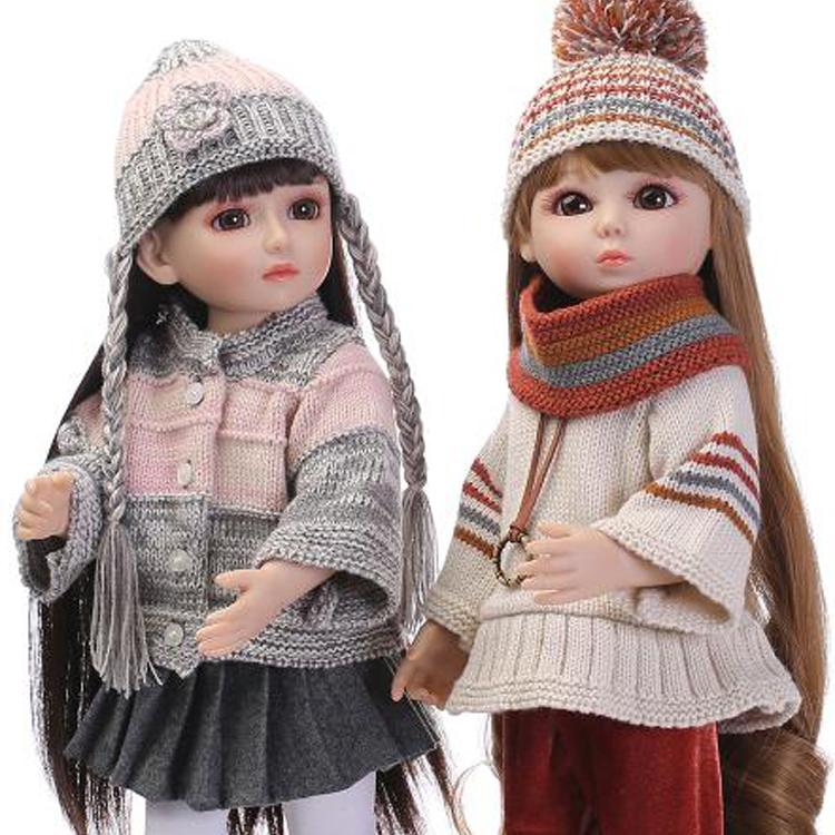 45cm Vinyl Girl love princess SD/BJD Doll toys/similar as american girl doll toys for girls