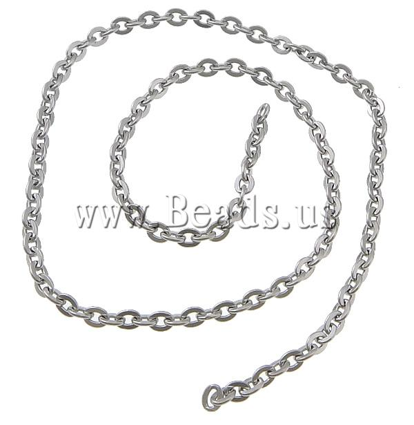 Free shipping!!!Stainless Steel Chain,Wedding Jewelry, oril color, 3x2.50x0.50mm, Length:100 m, Sold By Lot<br><br>Aliexpress