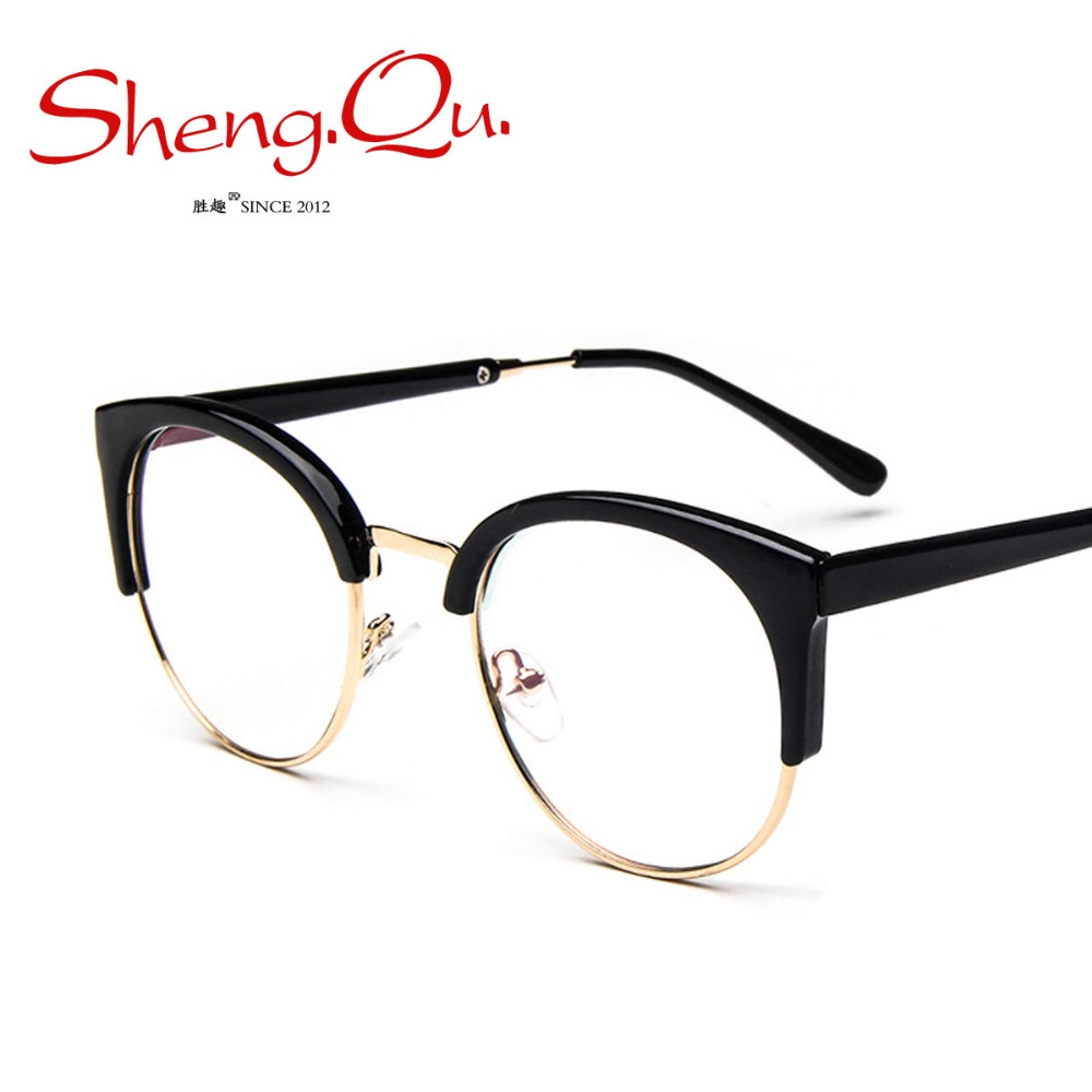 HOT New Retro Round Half-Frames Glasses For Men Women Summer Style Eyewears Frame 1YJ164