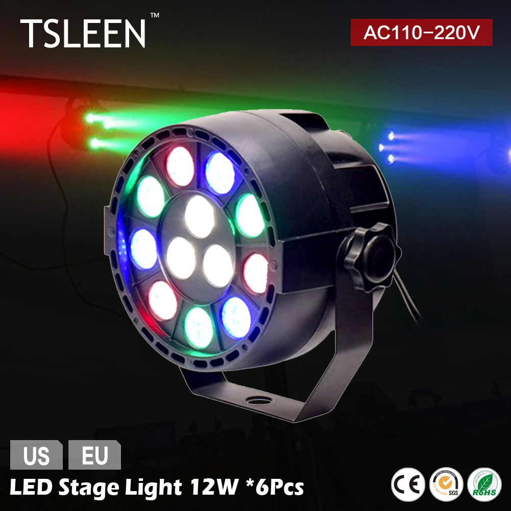 2017 NEW HOT +Cheap Sale+ 6Pcs AMP DMX LED STAGE LIGHTS PARTY SHOW LIGHTING STROBOSCOPE LASER EFFECTS RAINBOW COLOR(China (Mainland))