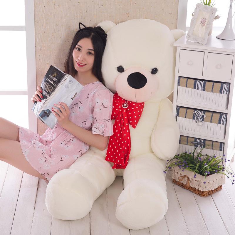75CM Big Plush Stuffed Bear Toy Soft kawaii Large Embrace Bear Doll For Kid Children Girlfriend Lover Christmas Birthday Gifts(China (Mainland))