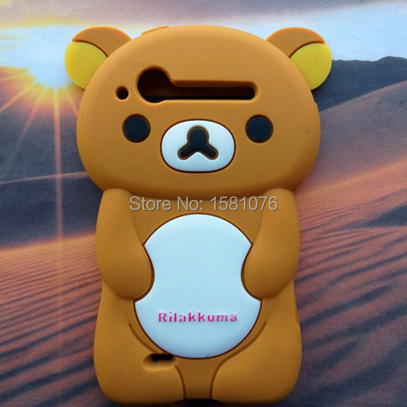 Silicone 6 Color Rilakkuma Lazy Bear Protector Cover Cases For HTC Incredible S G11 Back Cover Phone Case Free Shipping(China (Mainland))