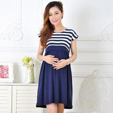 Recién llegado de las mujeres vestidos largos para mujeres embarazadas lactancia materna de las mujeres ropa de moda de maternidad hogar de ancianos ropa de la madre(China (Mainland))