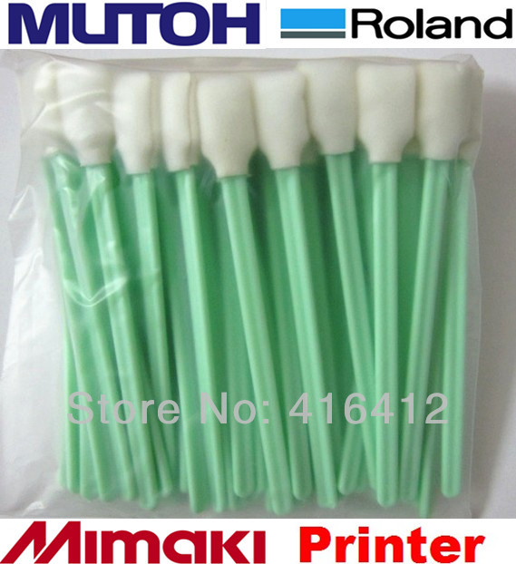High quality - 200 pcs eco solvent and solvent printer spare parts print head swab cleaning swab(China (Mainland))