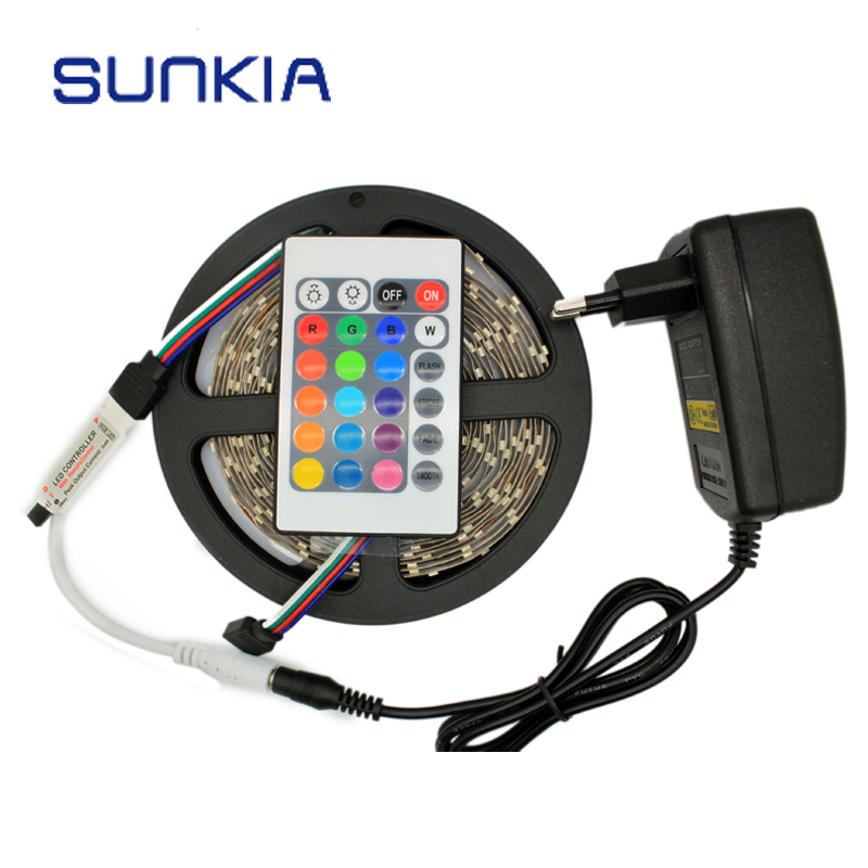 5M/Roll 3528 SMD 300 LED Flexible Strip Light RGB With Controller+Power Adapter/Yellow/Red/Blue/Green/White(China (Mainland))