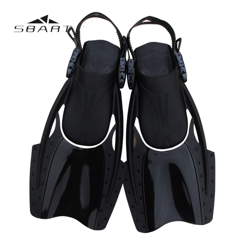 SBART Scuba Diving Spearfishing Submersible Fins Swimming Training Game Adjustable Flippers Set Snorkeling Fins Equipment(China (Mainland))
