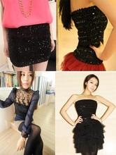 Buy 2017 Autumn Winter Basic Short Mini Skirts Women Slim Hip Fashion Paillette Sexy Bodycon Mini Skirt for $5.70 in AliExpress store