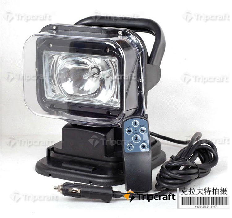 Black/white HID Search Light Remote Control 9-32V H3 Xenon Bulb Offroad Light 35W 6000K White Hot Selling