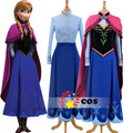2016 princess anna elsa princess dress princess anna costume adult snow grow princess anna cosplay costume