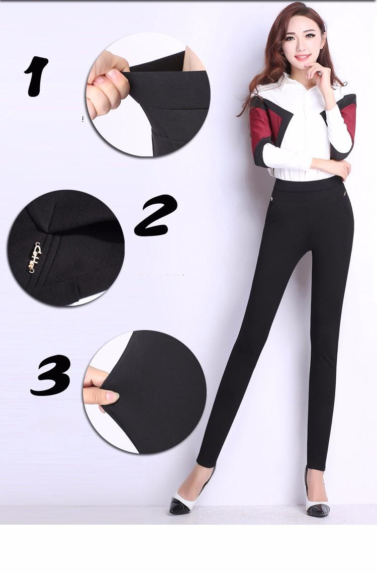 2016 M-6XL Fit 150kg Women Long Plus Size Skinny Pants High Elastic Pencil Pants Black Slim Trousers Big Size 6XL 5XL 4XL A080
