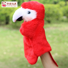 Kawaii Plush Hand Puppet Finger Puppets Plush Toys Story Animal Parrot Dog Hand Doll Toys For Children Baby Birthday Gifts(China (Mainland))