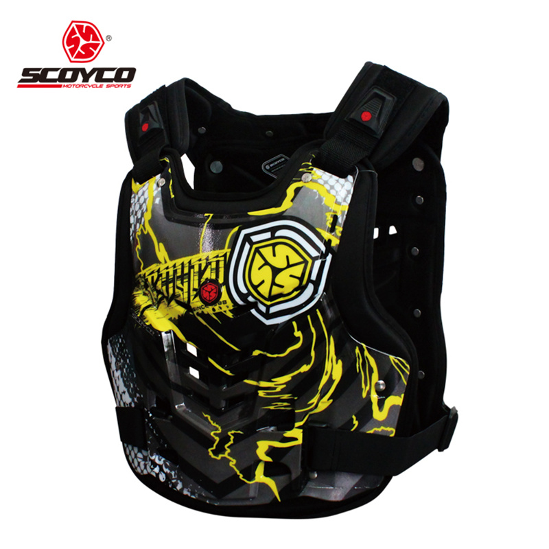 SCOYCO Motorcycle Armor Jacket Motocross Off-Road Racing Body Protective Gear Chest and Back Armor Vest Guard(China (Mainland))