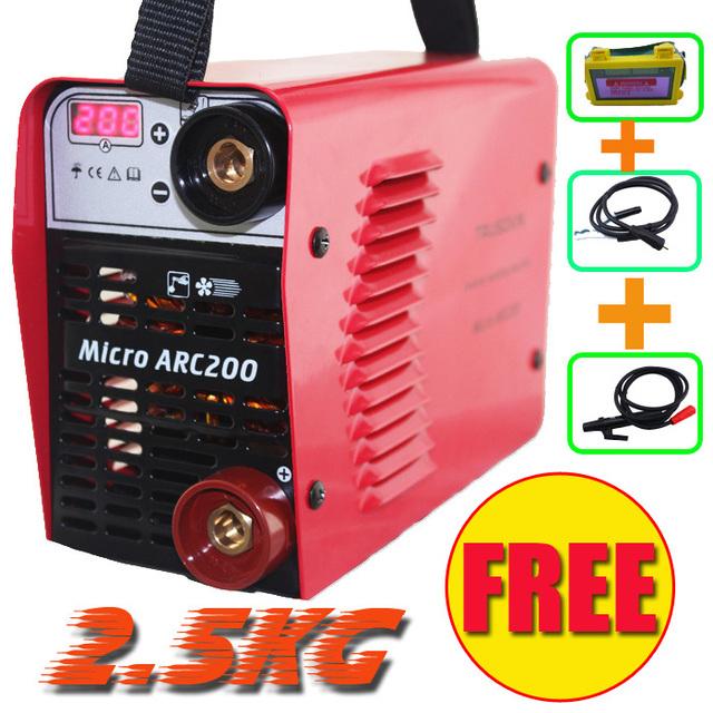 Promotion welder NEW 220V only 2.5KG 200A hand Inverter DC MMA IGBT diy welding machine/equipment and 1 pcs solar eyes mask