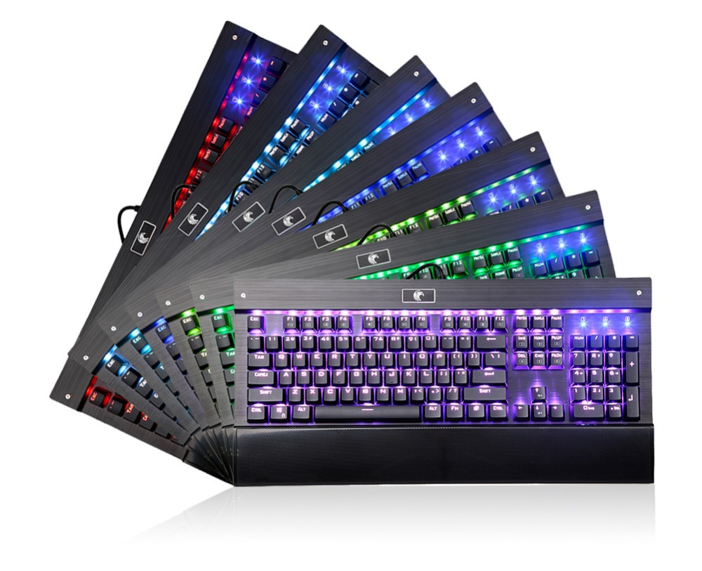 Backlit Chroma Dimmable RGB LED Mechanical Keyboard for dota 2 and Designe with 104 Buttons No Conflict Teclado Gamer Mecanico(China (Mainland))