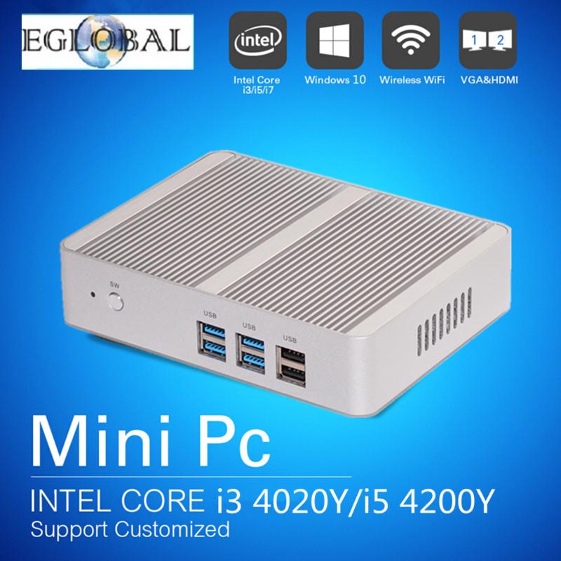 Haswell Core i3 4005U Fanless Mini PC Desktop Windows 10 VGA HDMI LAN USB3.0 300M WIFI Linux Nettop Computer Portable PC(China (Mainland))