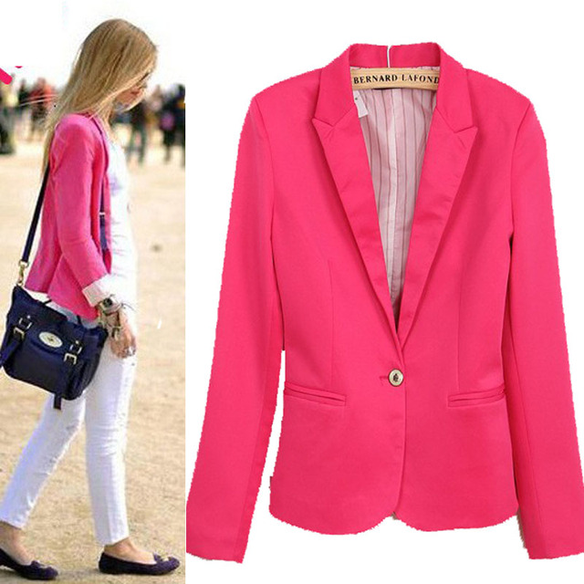 new 2015 WOMAN SUIT BLAZER FOLDABLE BRAND JACKET women spring clothes suit one button shawl cardigan Coat