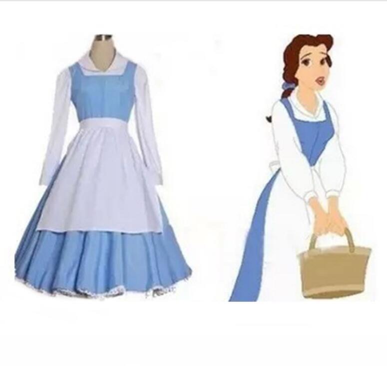 Adult belle blue dress costume