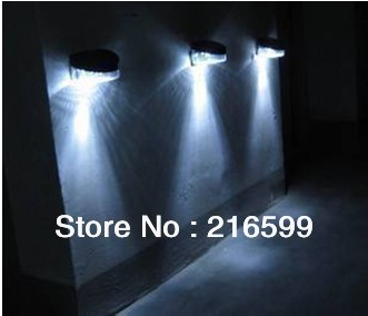 New 3pcs x Outdoor Garden Wall Solar Powered LED Pathway Landscape Fence Light Lamp Free Shipping