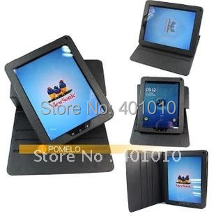 New  leather cover case for viewsonic viewpad 10E 9.7 free shipping by air mail ED672