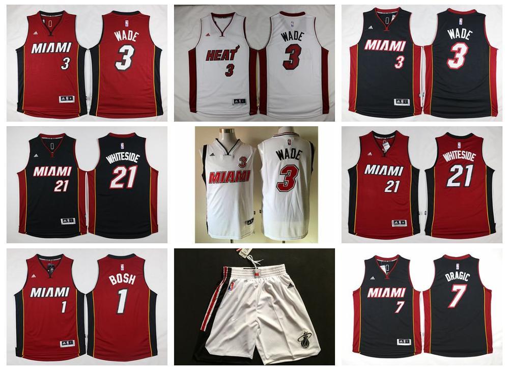 2016 new arrival Miami Heat,high quality.Chris Bosh,Dwyane Wade,Goran Dragic,Hassan Whiteside,Alonzo Mourning,LeBron James(China (Mainland))