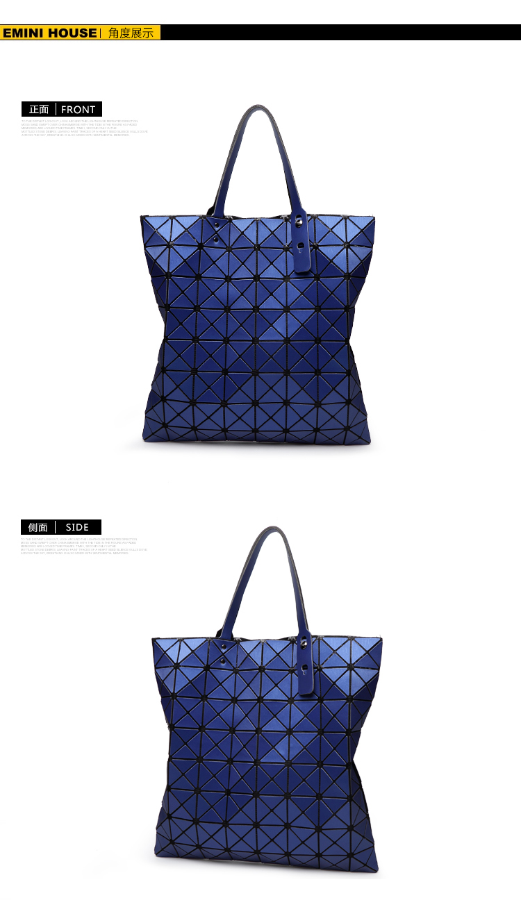Lasen bag High capacity Baobao Women Matte Surface Bag Laser Sac Tote Bags 88 Geometry Quilted Shoulder Bag Fold Over Handbags (12)