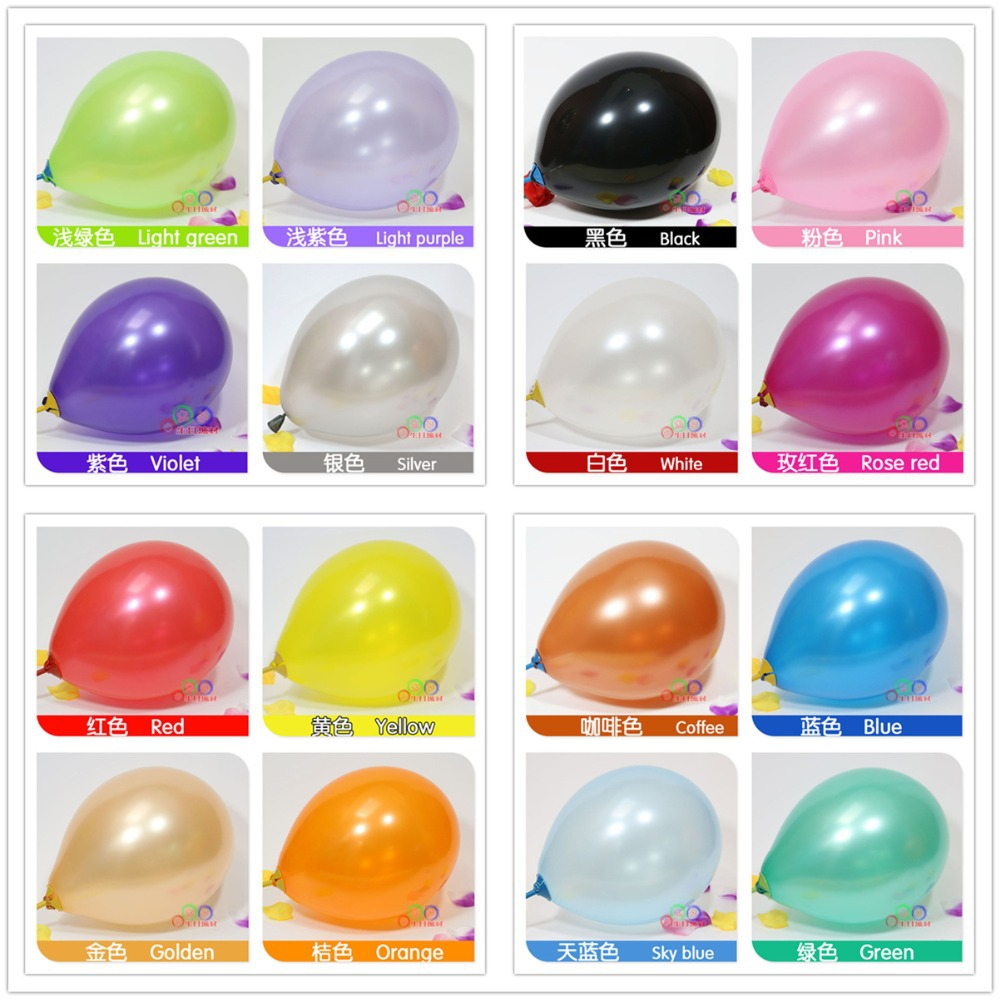 2.8g 12 Inch 5Latex Globos Pearl Party Balloons 16 Colors Baloon Christmas Wedding Decoration Ballons Toys - Welcome Tina's Shop store