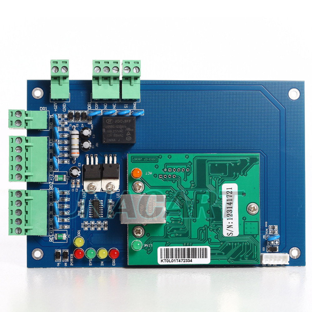 WIEGAND TCP/IP Network Access Control Board Panel Controller For 1 Door 2 Reader<br><br>Aliexpress